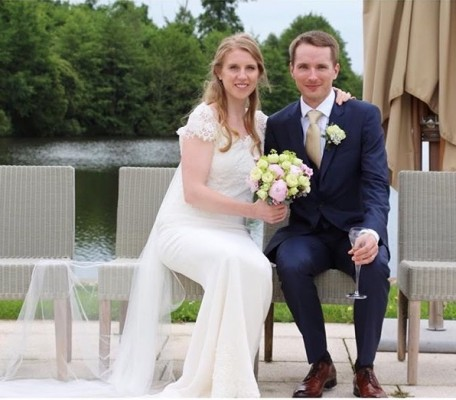 We love this Summer 2016 picture of our bride Matilda wearing Sheila Harding London