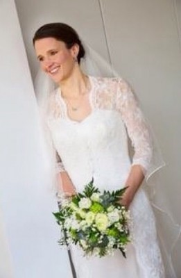 "We adore this picture of our beautiful real bride Anna wearing ""Allegro"" from Sheila harding London - Harmony Collection"