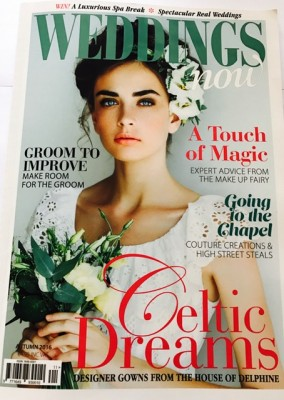 Published by WEDDINGSnow magazine an article on a bride dressed by Sheila Harding - August 2016